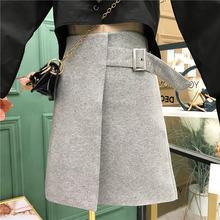 Женская юбка трапециевидной формы с высокой талией осень 2020