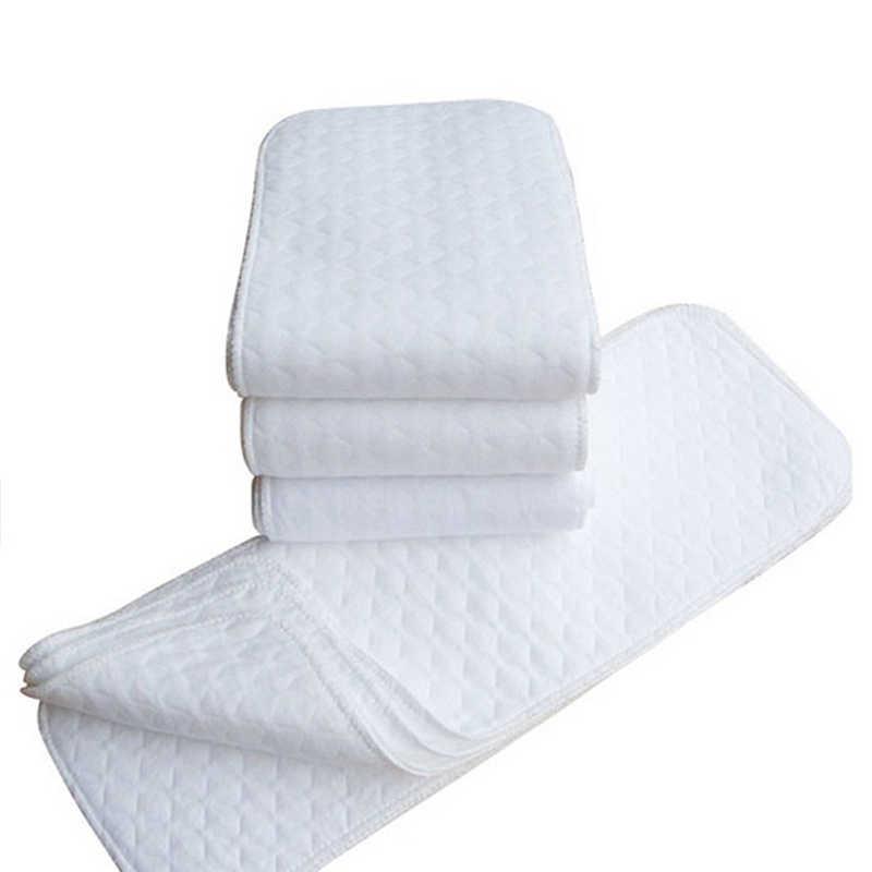 Pañal de algodón de cáñamo de 3 capas 4 Uds. Con bolsillo para bebé, pañal de tela, forro para pañal, pañal súper absorbente inserción de pañal s pañales de bebé A8