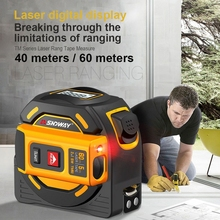 Survey-Tool Ruler Tape-Measure Rangefinder Laser-Distance-Meter Digital Retractable 40M