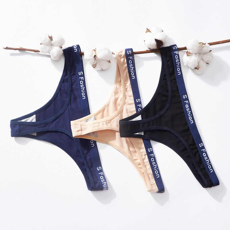 Baru Wanita Low-Rise G String Thong Celana Dalam String Pakaian Dalam Celana Wanita Olahraga Kapas Mulus Seksi Pakaian Dalam Wanita celana 20 Stlys
