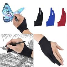 Glove-Tablet Drawing Anti-Fouling Artist 2-Finger for Right And Hand-M Left-L Graphics