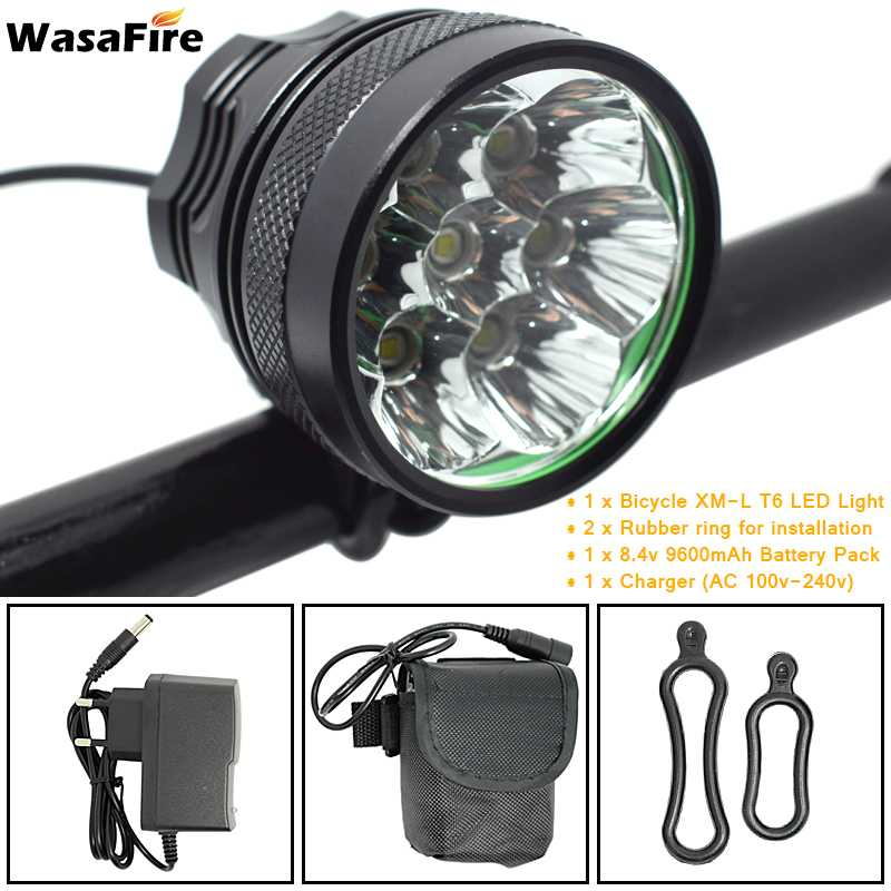 WasaFire 10000lm 7*XML T6 LED <font><b>Bicycle</b></font> Light Headlight Waterproof Bike Front Lamps <font><b>Flashlight</b></font> <font><b>for</b></font> Cycling 18650 Battery Pack image