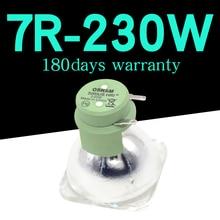 Yüksek kaliteli 7R 230W lamba hareketli ışın 230w lamba 7r ışın 230 R7 metal halide lambalar msd platin 7r lamba
