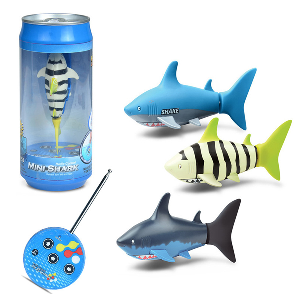 Innovative Mini <font><b>Remote</b></font> <font><b>Control</b></font> Small Shark Children's Fish Tank Swimming Toys New Exotic Family Interactive Entertainment Toys image