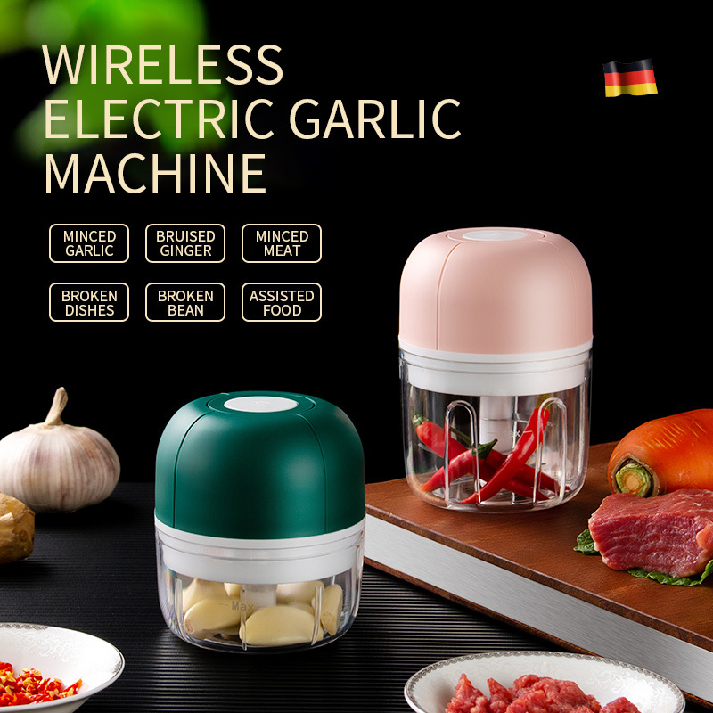 Lihaojia Wireless Electric Garlic Press Household Portable Meshed Garlic Device Mini Meat Grinder Baby Complementary Food Mixer