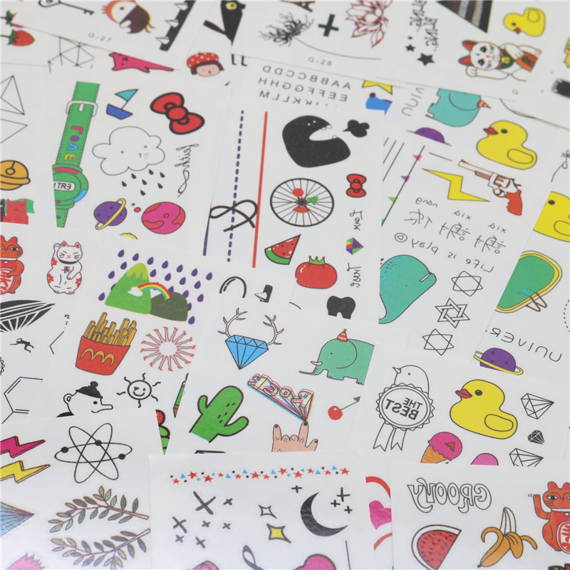CHENG PIN 1 Bag 30 Pcs Kawaii DIY Stationery Stickers Cute Children Stickers Office Stationery Beautiful Tattoo Sticker in Stationery Stickers from Office School Supplies