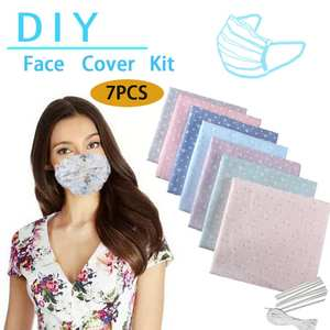 Mask-Kit Homemade-Mask Make-Face-Mask-Mouth-Masks Nose Non-Woven-Material DIY 7pcs Bridge-Clips