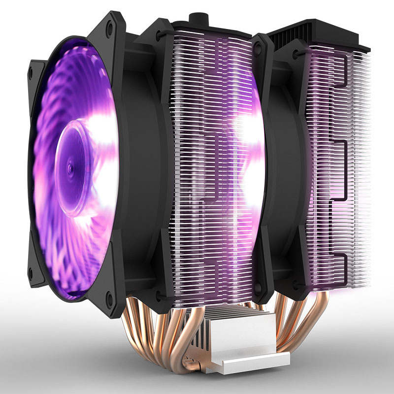 Cpu Cooler Rgb Double Cooling Fan Noise