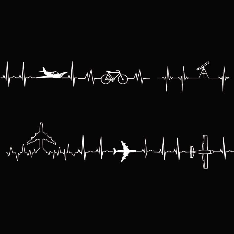 เครื่องบิน T เสื้อการบินถัง Cardiogram Space Enthusiasts เสื้อผ้าฝ้ายสบาย TEE ของขวัญสบายๆเสื้อยืด