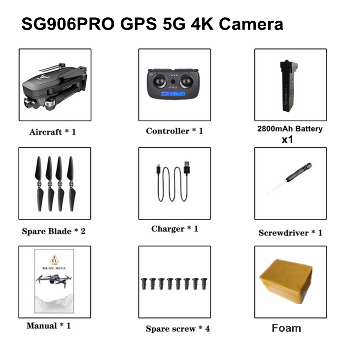FEMA SG906 Pro GPS Drone with 5G Wifi 4K Camera Two-axis Self-stabilizing Gimbal Brushless 4K Profesional Quadcopter RC Dron