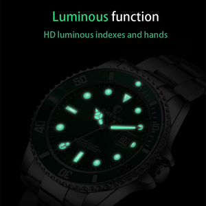 Image 4 - Luxury Green Men Watches Classic Silver Stainless Steel 30M Waterproof Casual Business Mens Sport Wrist Watch  Japan Movement