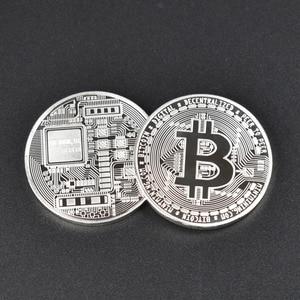 Image 5 - 50 teile/los Sammlerstücke Bitcoin münze BTC Bit Metall Münze Gedenkmünzen Für Souvenir