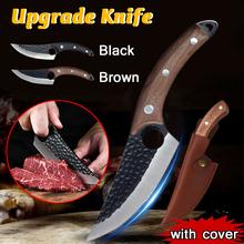 5 5 #8222 tasak do mięsa nóż myśliwski ręcznie kuty nóż do trybowania serbski nóż szefa kuchni nóż kuchenny ze stali nierdzewnej rzeźnik nóż do ryb tanie tanio CN (pochodzenie) STAINLESS STEEL Ekologiczne Zaopatrzony AE7-LJH-041A Ce ue Lfgb Cleaver