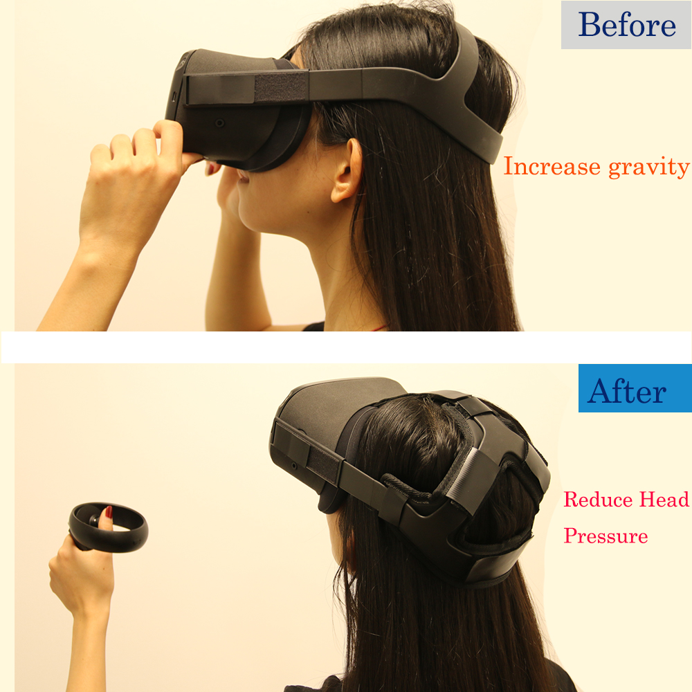 Newest Non-slip VR Helmet Head Pressure-relieving Strap Foam Pad for Oculus Quest VR Headset Cushion Headband Fixing Accessories 5