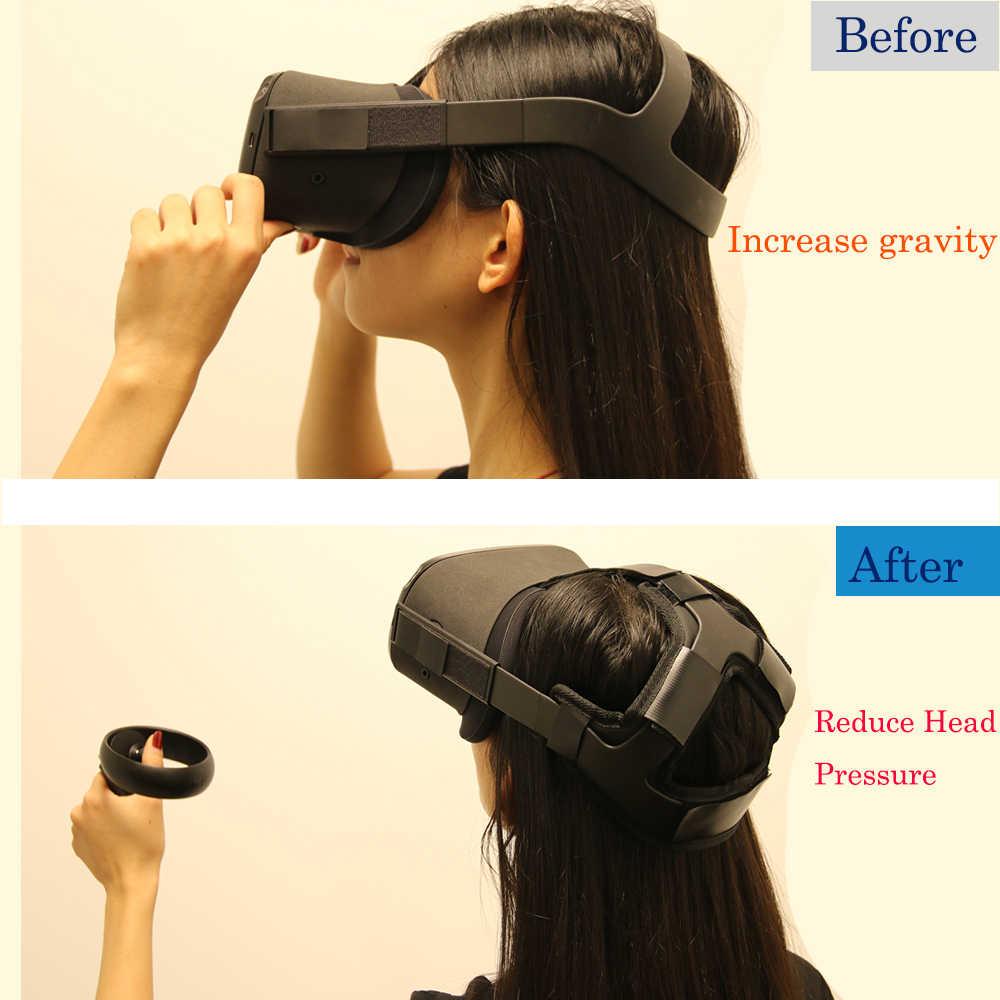 Yeni kaymaz VR kask kafa basınç giderici kayış köpük Pad Oculus görev VR kulaklık minder kafa bandı sabitleme aksesuarları