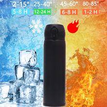 500ML termofor kubki kubek podróżny biuro kawa herbata utrzymać termos ciepłe utrzymanie kubek wody butelki sportowe termosy tanie tanio CN (pochodzenie) STAINLESS STEEL Ekologiczne Prosto puchar 6-12 godzin Stainless Steel Vacuum Flask Smart Kettle LCD Screen Display