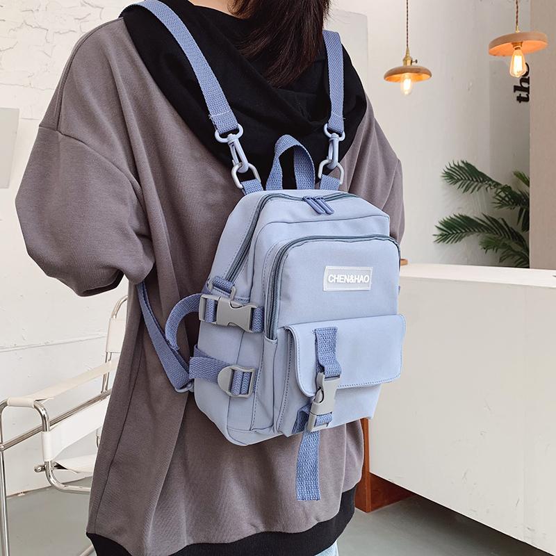 Fashion Small Backpack Canvas Women Mini Backpack Anti theft Shoulder Bag School Bag for Teenager Girls School Backapck Female