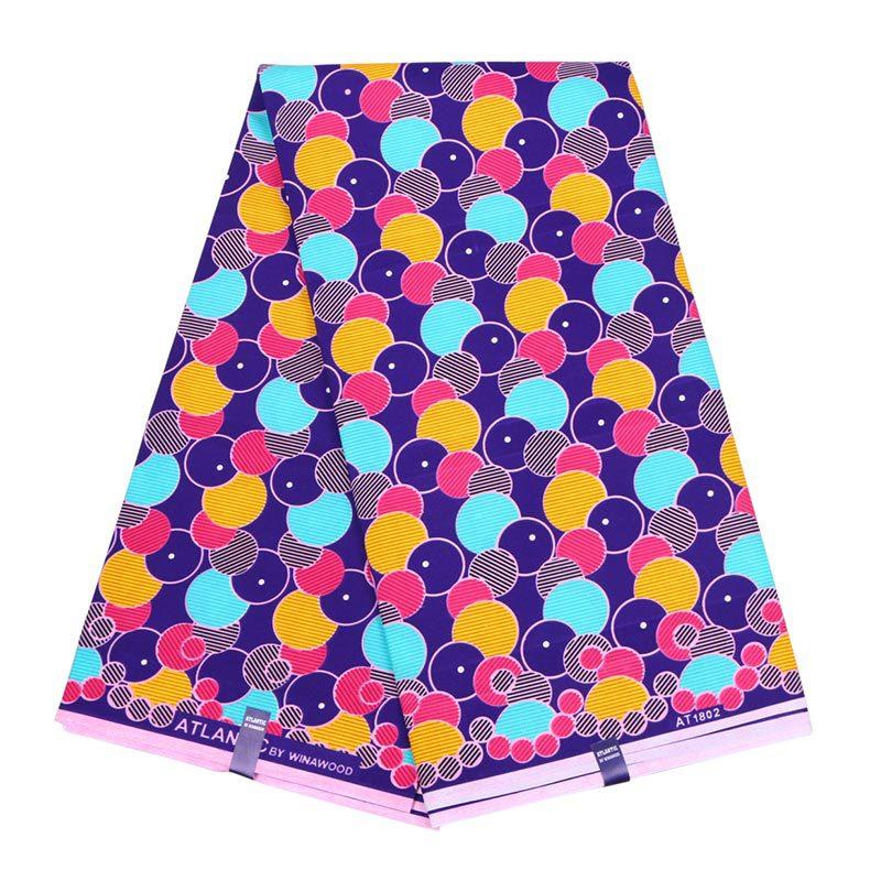 2019 Ankara Wax African Polyester Real Dutch Wax Veritable Wax Colourful Print For Women Dress 6yards