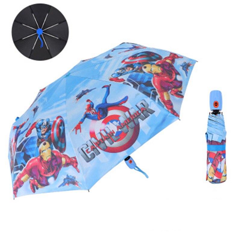 Disney dos desenhos animados crianças guarda-chuva congelado homem-aranha homem de ferro trifold guarda-chuva estudante menino menina adulto protetor solar crianças guarda-chuva presente