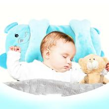 Infant Baby Sleep Positioner Pillow Support Prevent Flat Head Cotton Anti Roll Pillow Baby Pillow Newborn Crib Baby Bedroom Hot lokyee 6119 cute bear pattern infant baby avoid flat position pillow light ivory