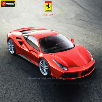 Bburago 1:24 Ferrari 488GTB collection manufacturer authorized simulation alloy car model crafts decoration collection toy tools maisto 1 24 ford raptor manufacturer authorized simulation alloy car model crafts decoration collection toy tools