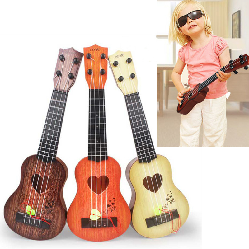Mini Beginner Classical Safe Simple Strings Ukulele 4 Toy Guitar Christmas Instrument Educational Gift Kids Concert Musical For