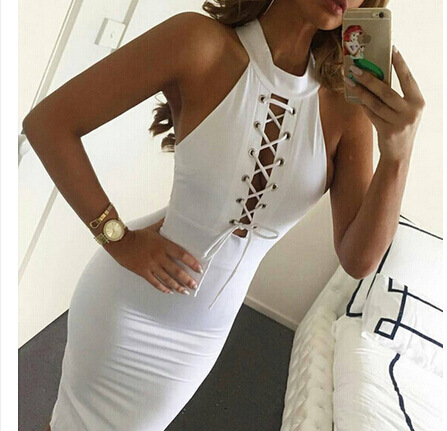 <font><b>EBAY</b></font> New Winter Fashion Hollow Sleeveless Dress image
