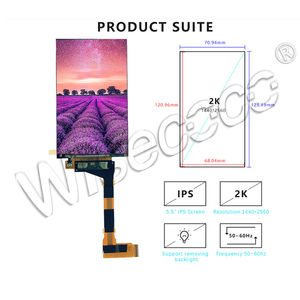 Image 5 - for KLD 1260 3D Printer LCD screen 5.5 inch 2K 1440*2560 LCD Panel display LS055R1SX03