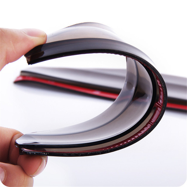 2Pcs Universal Flexible PVC Car Accessories Rearview Mirror Rain Shade Rainproof Blades Car Back Mirror Eyebrow Rain Cover 3