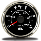 52mm oil pressure ga...