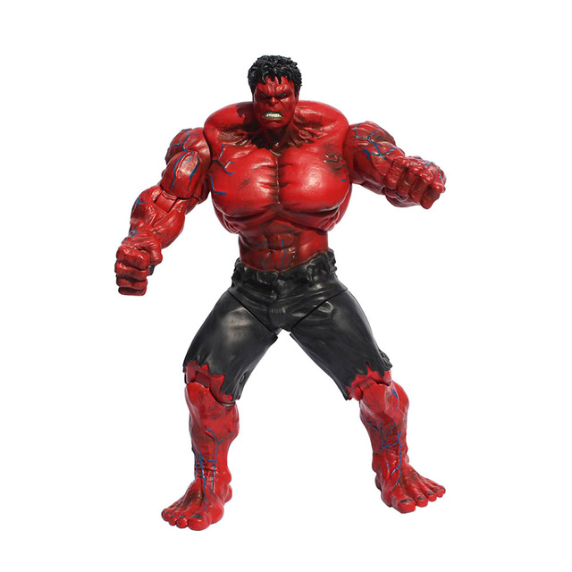 Red and Green Hulk Action Figures Collectible 10inch 2