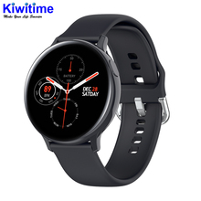"KIWITIME 2020 S20 אק""ג חכם שעון גברים נשים מלא מגע מסך IP68 Waterproof קצב לב צג לחץ דם Smartwatch"