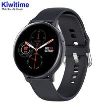Kiwitime 2020 s20 ecg relógio inteligente das mulheres dos homens tela sensível ao toque completo ip68 à prova dip68 água monitor de freqüência cardíaca pressão arterial smartwatch