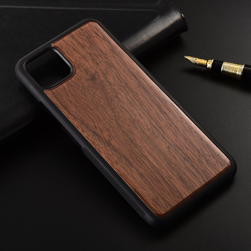 Case For Google Pixel 4 XL Slim Wood Back Cover TPU Bumper Case For Google Pixel 4 Phone Cases