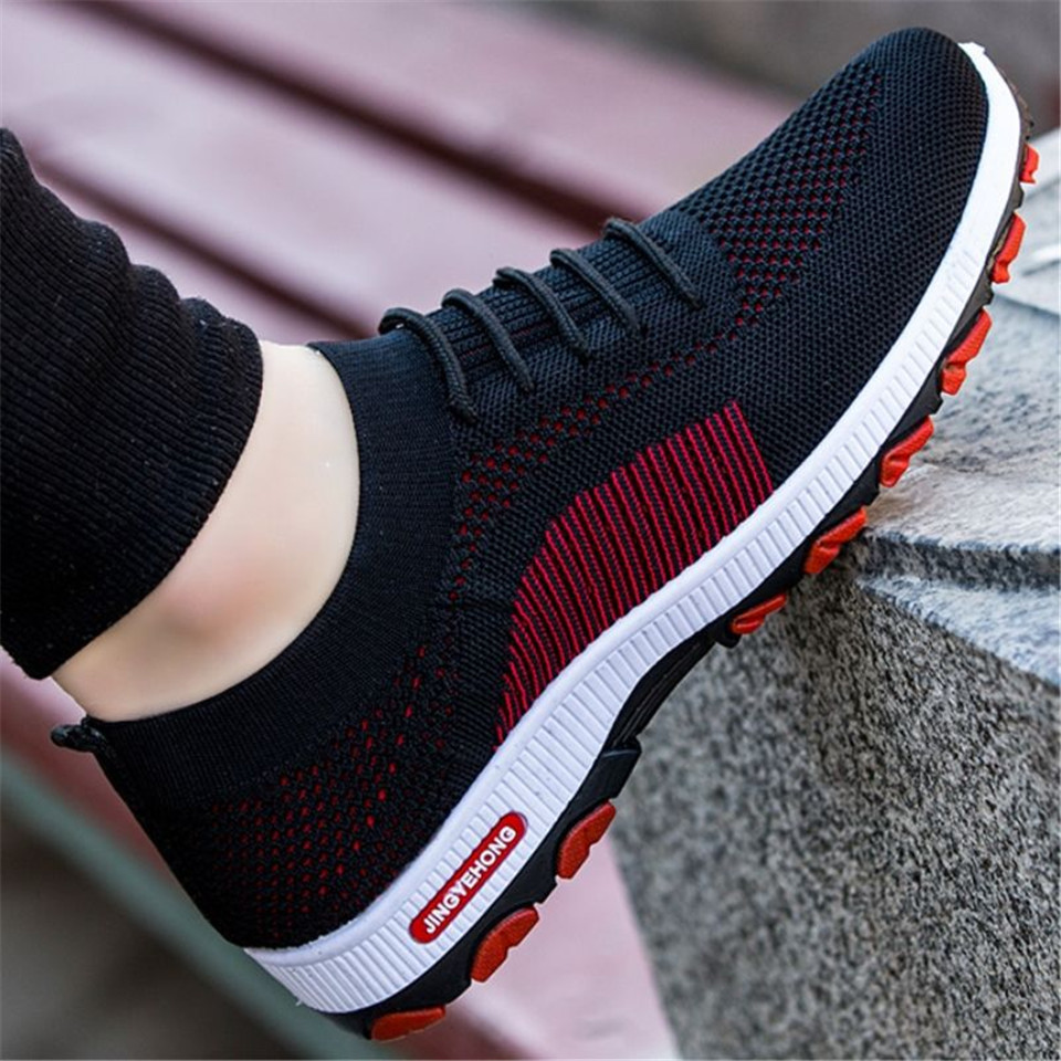 2019 New Mesh Men / Women Casual Shoes Lac-up Lightweight Running Shoes Comfortable Breathable Walking Sneakers Tennis 36-44