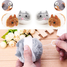 Pet Cat Cute Toys Plush Fur Toy Shake Movement Mouse Pet Kitten Funny Rat Safety Plush Little Mouse Interactive Toy Gift