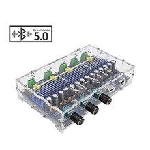 AIYIMA placa amplificadora de sonido TPA3116D2 con Bluetooth 5,0, Amplificador de sonido de 4 canales, 50W * 2 + 100W * 2