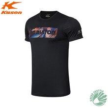 Касон подлинный для мужчин футболка быстросохнущая с коротким рукавом Бадминтон Спорт на открытом воздухе бег тренировка дышащая повседневная рубашка
