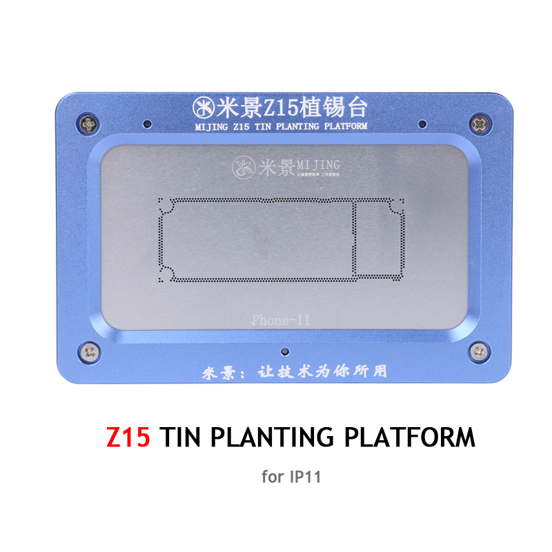 Tools : Mijing Z13 Z15 Z16 BGA Reballing Stencil for iPhone X XS XS MAX 11 11 Pro 11Pro MAX Motherboard Holder Soldering Repair Tools