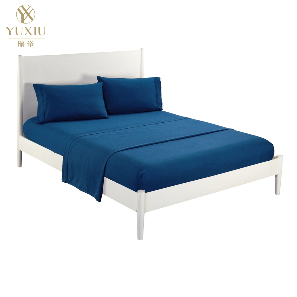 Yuxiu Bedspread Coverlet Sets Flat Fitted Sheets Pillowcases Plain Solid Brushed  Twin Full Queen King Bedding Set Bed Linens