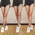 Женский Для женщин сексуальные прозрачные облегающие, в сеточку колготки Клубные вечерние чистая отверстия черные колготки маленький/сред...