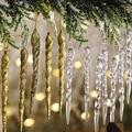 10 шт. поддельные сосульки, реквизит, подвесные украшения на рождественскую елку, имитация прозрачных сосулек, подвеска, товары для вечерние