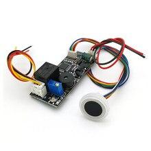 K261 + r557 dc12v baixa potência consumo de impressão digital identificação relé saída para controle acesso