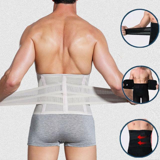 Meihuida Men Slimming Abdomen Fat Burn Tummy Body Shaper Sweat Belt Cincher Wraps Corset Gym Sport Shapewear Model Tape 2