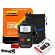 Konnwei escáner de diagnóstico de coche Obd2 Kw590, varios idiomas, Obd2, kw 590, en ruso, mejor que Ad310