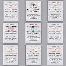 2 шт./компл. натуральный матовый камень Лава браслет из бисера Регулируемая красная струна Плетеный Пара Браслеты для мужчин женщин желаний ювелирные изделия подарок