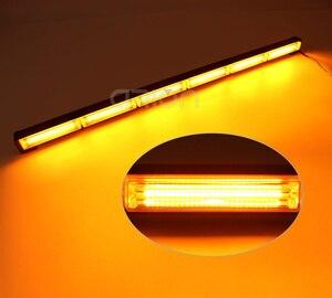 Image 2 - 36W a 144W COB LED del Traffico Consigliere Di Emergenza di Sicurezza di Avvertimento Segnale di Strobe Light Bar Ambra Giallo Rosso Blu per Traino Aratro Camion