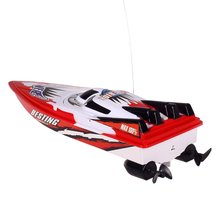 RC Racing Boat Radio Remote Control Dual Motor Boat High-speed Strong Power System Fluid Type Design Kids Outdoor Toy for Kids