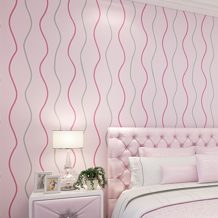 Modern Minimalist Abstract Stripes Lines Non-woven Wallpaper Bedroom Living Room Television Home Improvement Wallpaper Manufactu