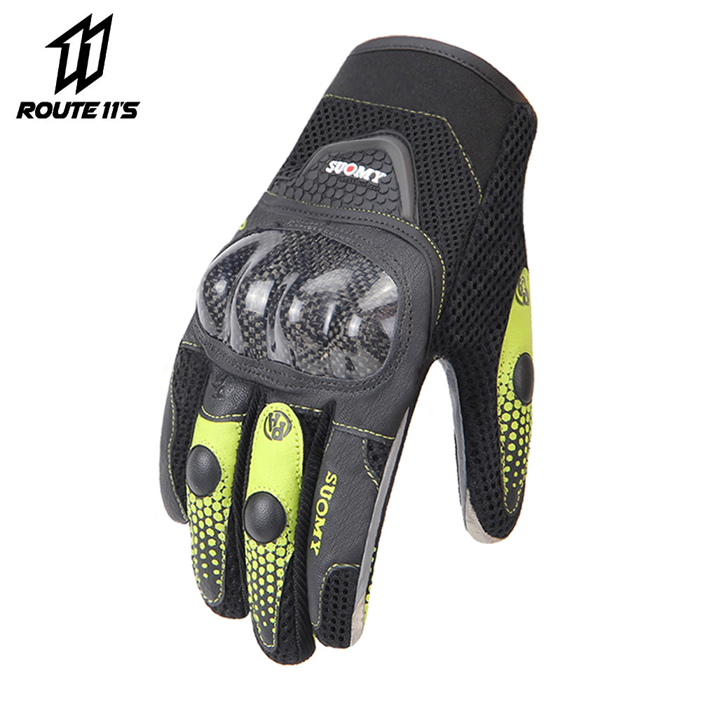 SUOMY Motorcycle Gloves Breathable Unisex Full Finger Glove Fashionable Outdoor Racing Sport Glove Motocross Protective Gloves